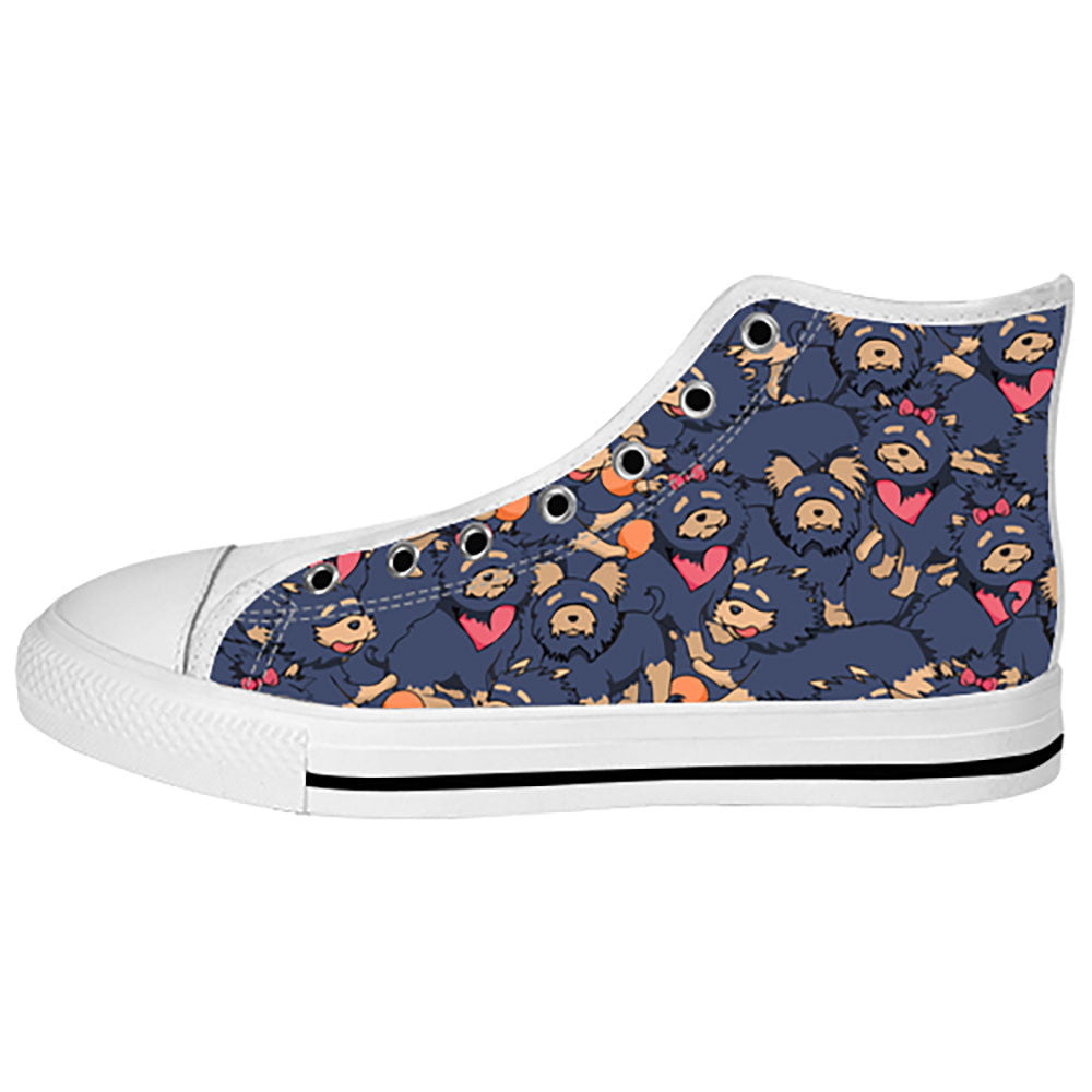Yorkshire Terrier Shoes & Sneakers - Custom Yorkshire Terrier Canvas Shoes - TeeAmazing