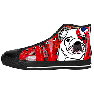 English Bulldog Shoes & Sneakers - Custom English Bulldog Canvas Shoes - TeeAmazing