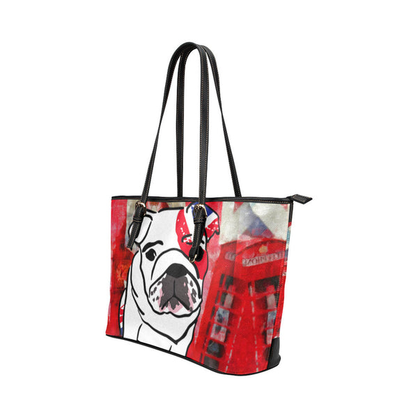 English Bulldog Leather Tote Bags - English Bulldog Bags - TeeAmazing - 2