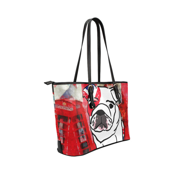 English Bulldog Leather Tote Bags - English Bulldog Bags - TeeAmazing - 4
