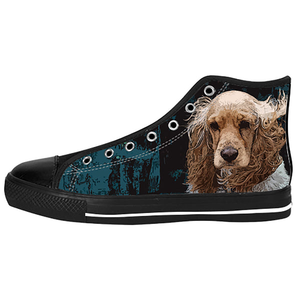 English Cocker Spaniel Shoes & Sneakers - Custom English Cocker Spaniel Canvas Shoes - TeeAmazing - 1