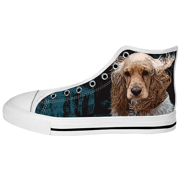 English Cocker Spaniel Shoes & Sneakers - Custom English Cocker Spaniel Canvas Shoes - TeeAmazing - 2