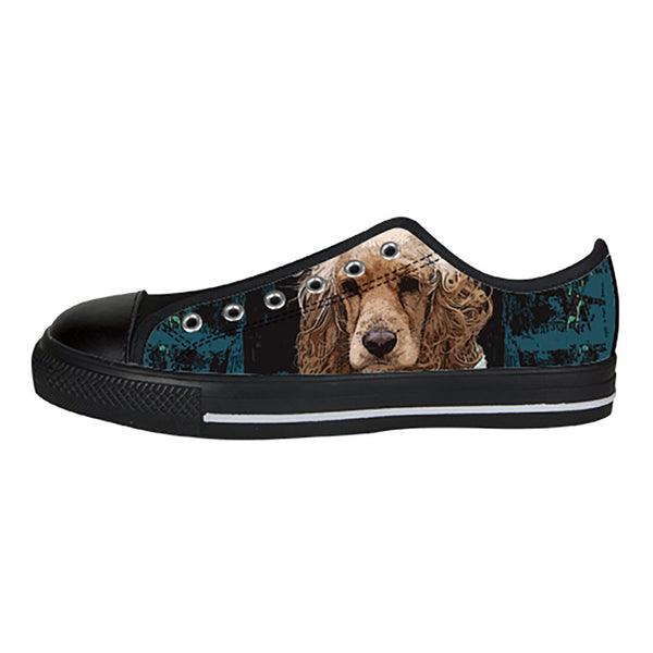 English Cocker Spaniel Shoes & Sneakers - Custom English Cocker Spaniel Canvas Shoes - TeeAmazing - 3
