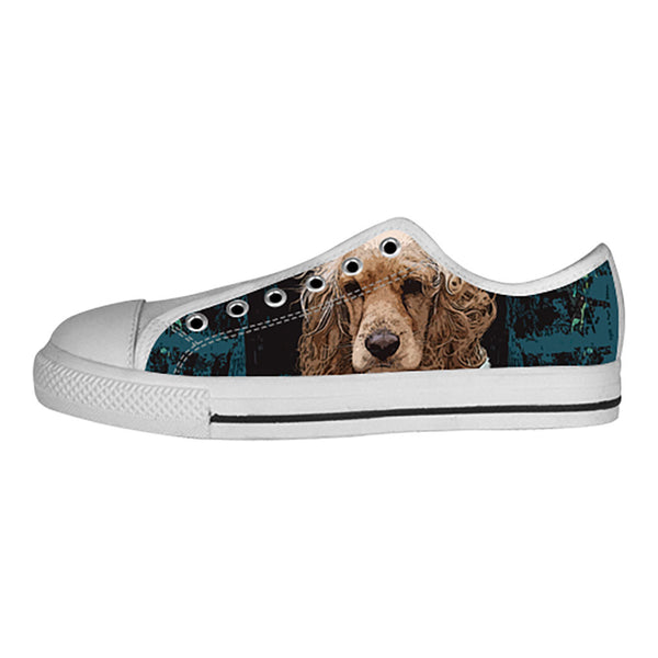 English Cocker Spaniel Shoes & Sneakers - Custom English Cocker Spaniel Canvas Shoes - TeeAmazing - 4