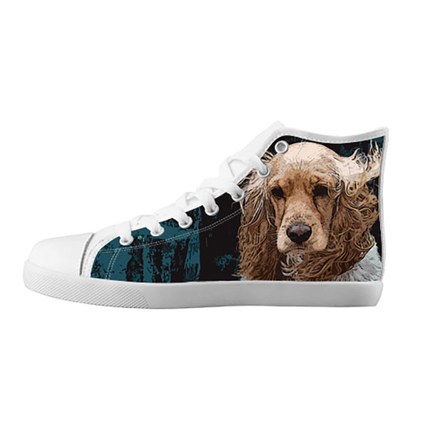 English Cocker Spaniel Shoes & Sneakers - Custom English Cocker Spaniel Canvas Shoes - TeeAmazing