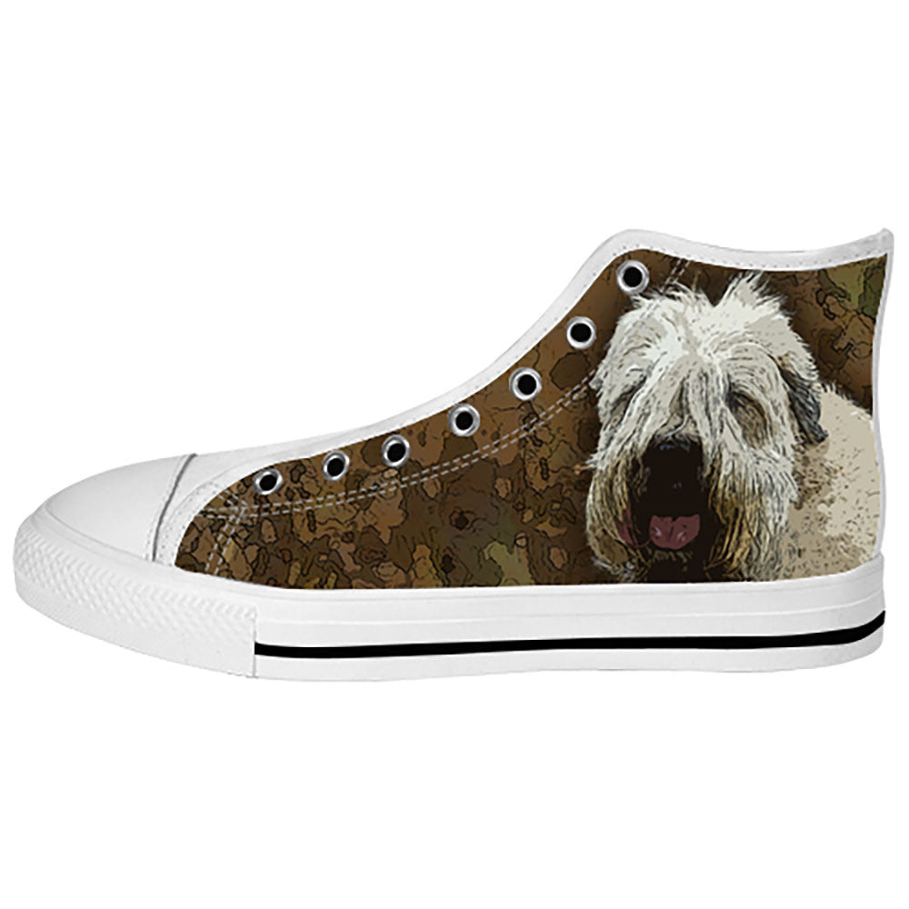 Soft Coated Wheaten Terrier Shoes & Sneakers - Custom Soft Coated Wheaten Terrier Canvas Shoes - TeeAmazing