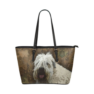 Soft Coated Wheaten Terrier Leather Tote Bags - Soft Coated Wheaten Terrier Bags - TeeAmazing