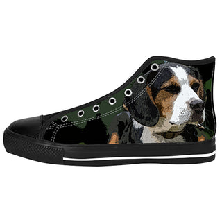 Beagle Shoes & Sneakers - Custom Beagle Canvas Shoes - TeeAmazing - 1