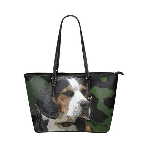 Beagle Leather Tote Bags - Beagle Bags - TeeAmazing