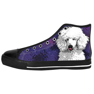 Poodle Dog Shoes & Sneakers - Custom Poodle Canvas Shoes - TeeAmazing