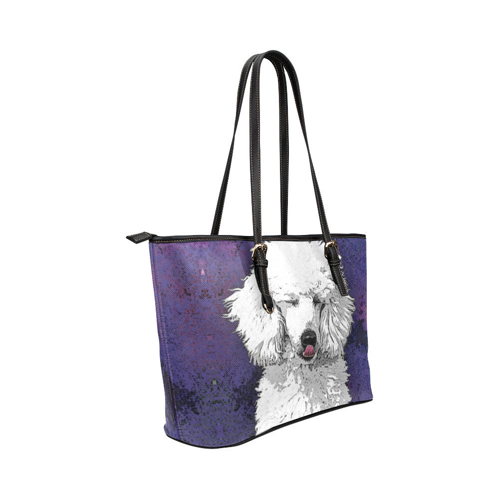 Poodle Dog Leather Tote Bags - Poodle Bags - TeeAmazing