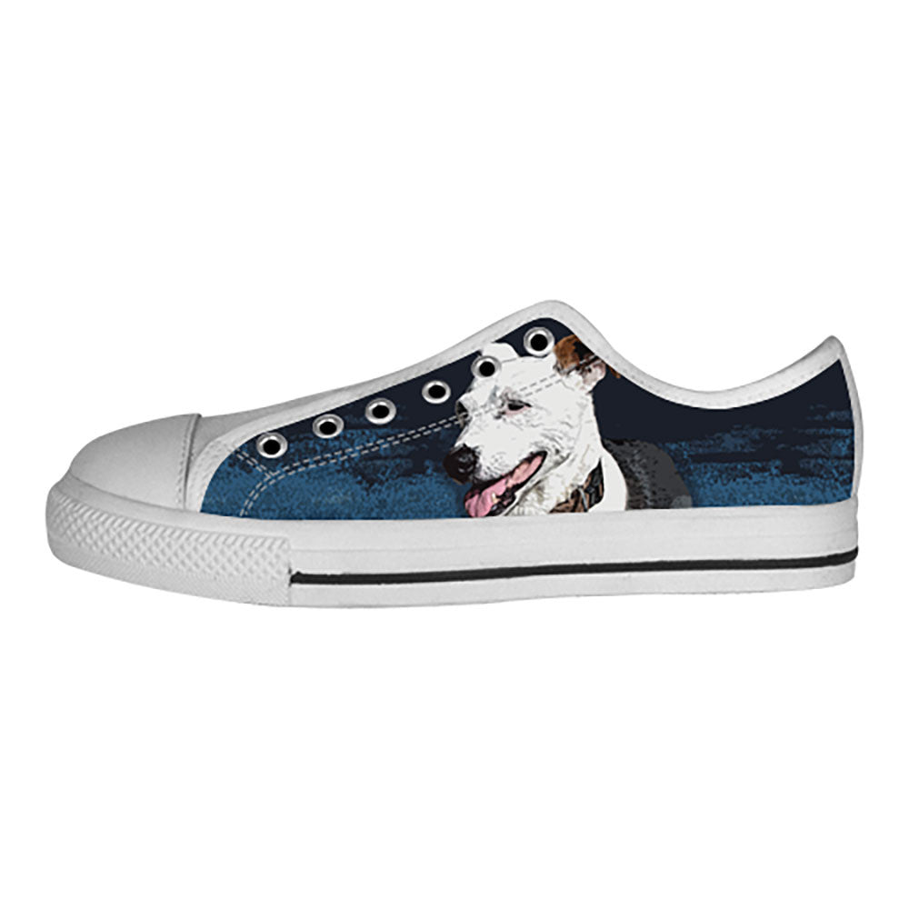Jack Russell Terrier Shoes & Sneakers - Custom Jack Russell Terrier Canvas Shoes - TeeAmazing