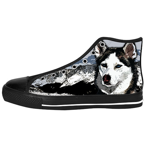 Siberian Husky Shoes & Sneakers - Custom Siberian Husky Canvas Shoes - TeeAmazing