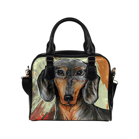 Dachshund Painting Purse & Handbags -  Dachshund Bags - TeeAmazing