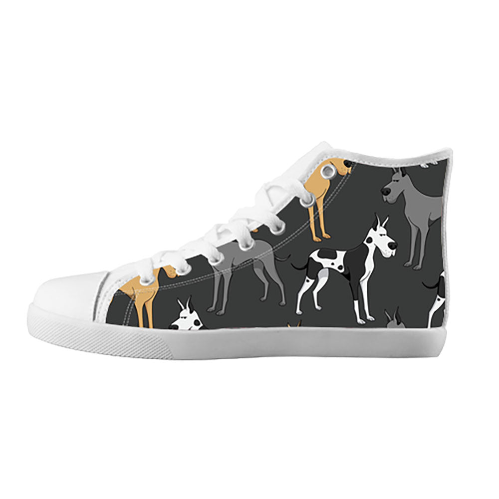 Great Dane Shoes & Sneakers - Custom Great Dane Canvas Shoes - TeeAmazing