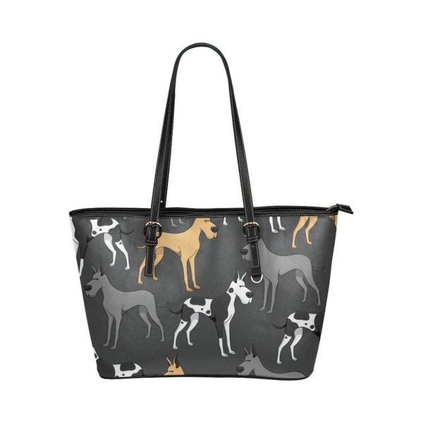 Great Dane Leather Tote Bags - Great Dane Bags - TeeAmazing - 1