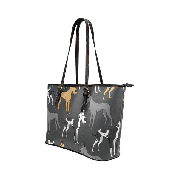 Great Dane Leather Tote Bags - Great Dane Bags - TeeAmazing - 2