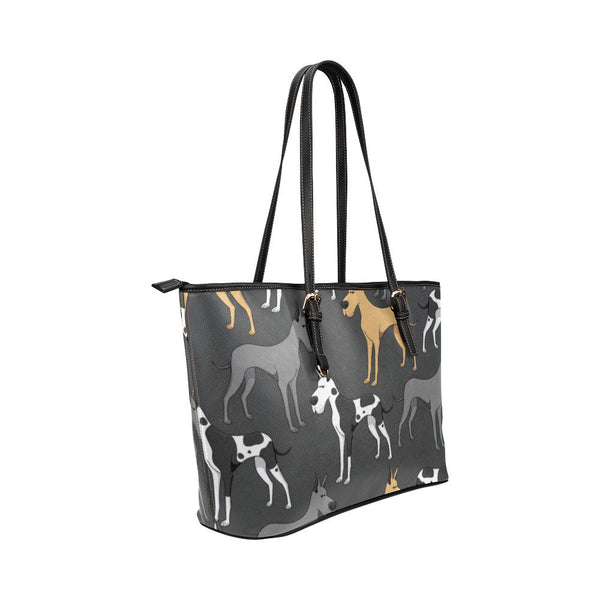 Great Dane Leather Tote Bags - Great Dane Bags - TeeAmazing - 4