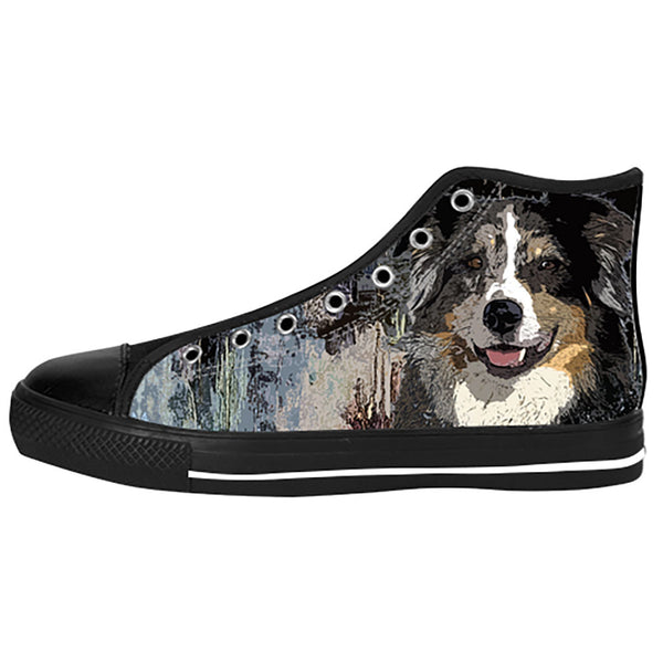Australian Shepherd Shoes & Sneakers - Custom Australian Shepherd Canvas Shoes - TeeAmazing - 1