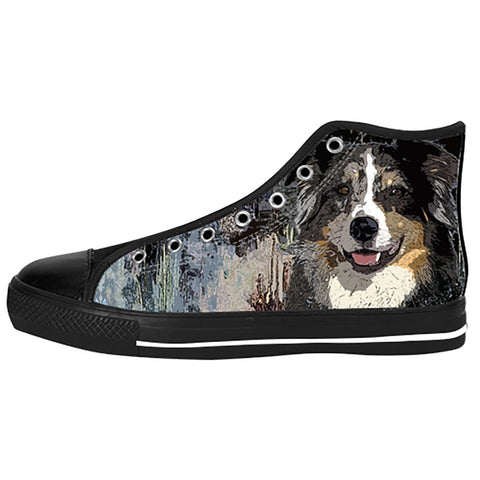 Australian Shepherd Shoes & Sneakers - Custom Australian Shepherd Canvas Shoes - TeeAmazing