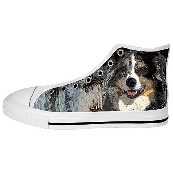 Australian Shepherd Shoes & Sneakers - Custom Australian Shepherd Canvas Shoes - TeeAmazing - 2
