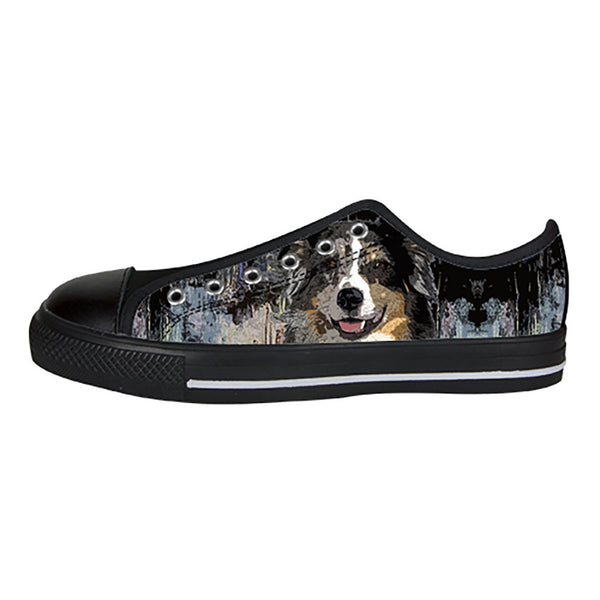 Australian Shepherd Shoes & Sneakers - Custom Australian Shepherd Canvas Shoes - TeeAmazing - 3