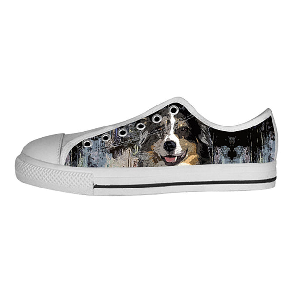Australian Shepherd Shoes & Sneakers - Custom Australian Shepherd Canvas Shoes - TeeAmazing - 4