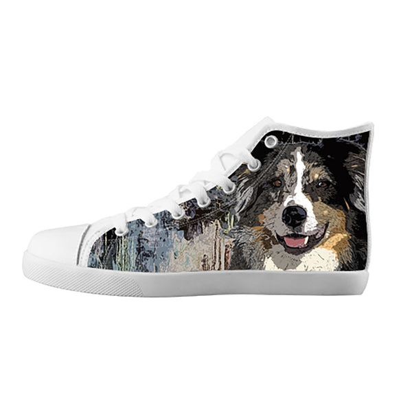 Australian Shepherd Shoes & Sneakers - Custom Australian Shepherd Canvas Shoes - TeeAmazing - 5