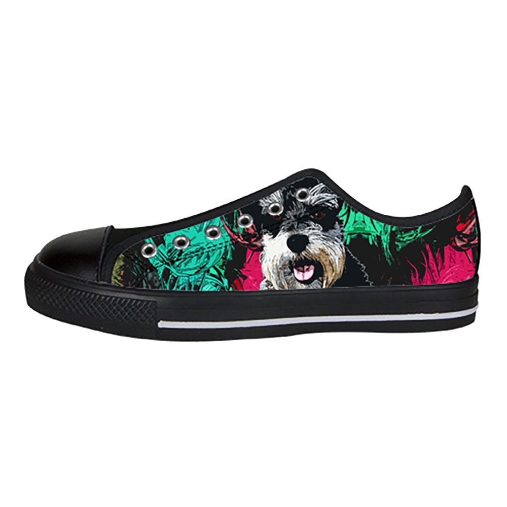 Miniature Schnauzer Shoes & Sneakers - Custom Miniature Schnauzer Canvas Shoes - TeeAmazing