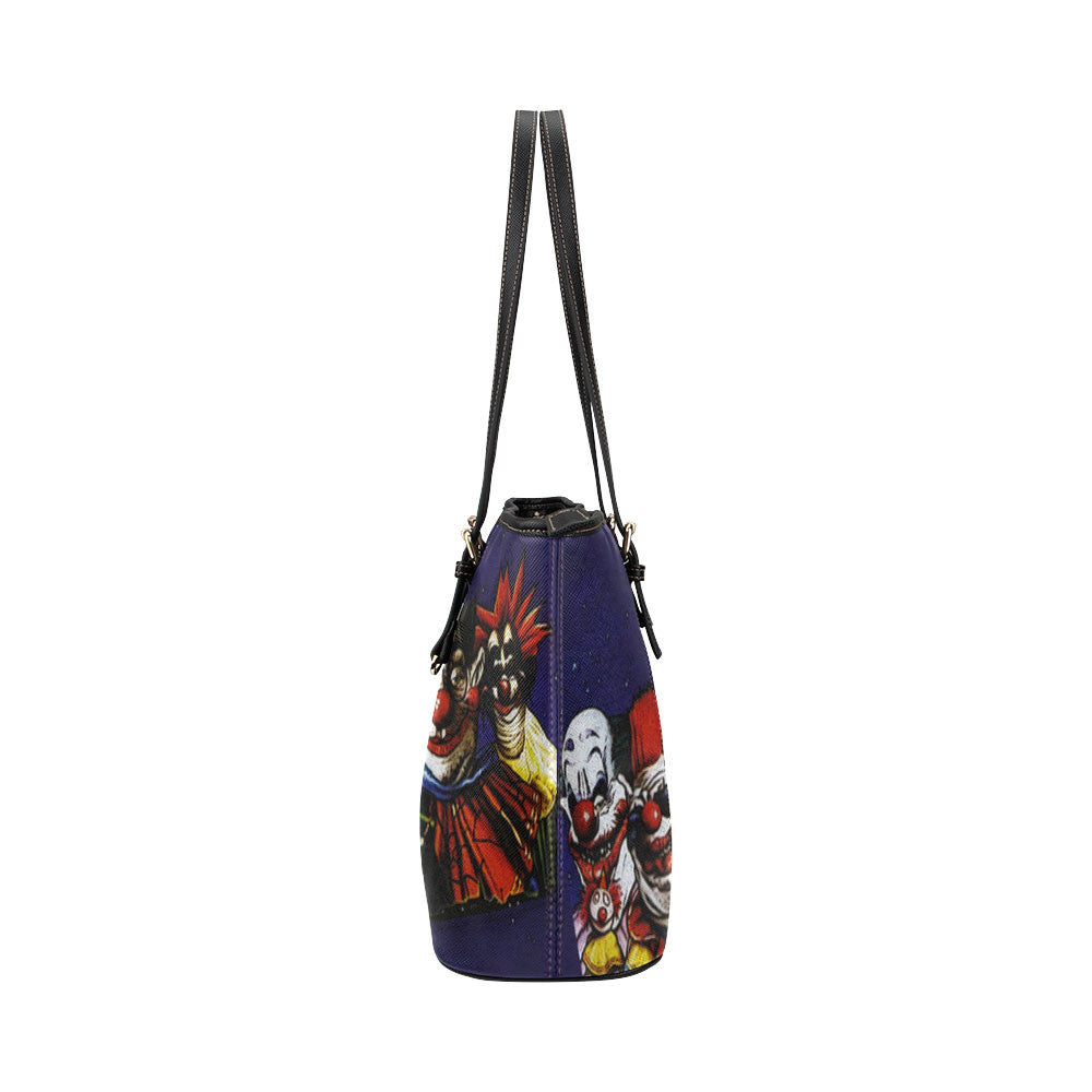 Killer Klowns from Outer Space Leather Tote Bags - Killer Klowns from Outer Space Bags - TeeAmazing
