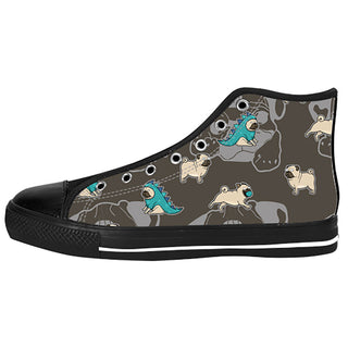 Pug Shoes & Sneakers - Custom Pug Canvas Shoes - TeeAmazing