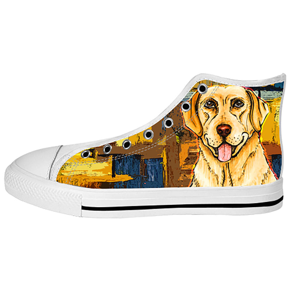 Labrador Retriever Dog Shoes & Sneakers - Custom Labrador Retriever Canvas Shoes - TeeAmazing