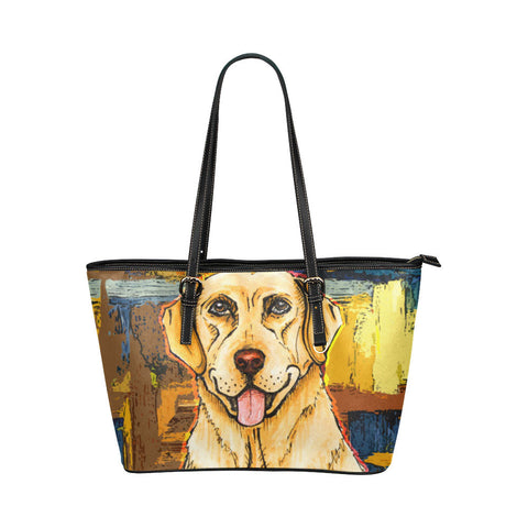 Labrador Retriever Dog Leather Tote Bags - Labrador Retriever Bags - TeeAmazing