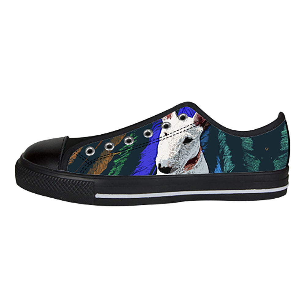 Bull Terrier Shoes & Sneakers - Custom Bull Terrier Canvas Shoes - TeeAmazing
