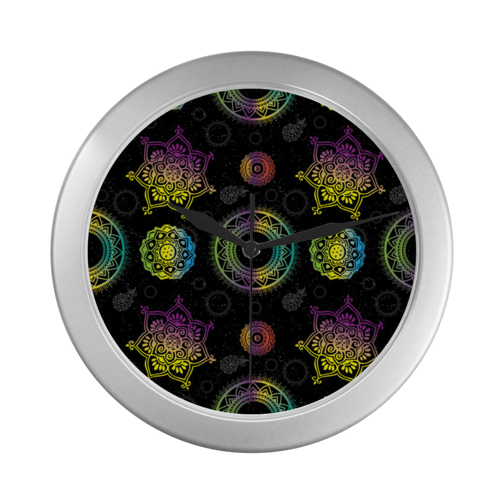 Chakra Silver Color Wall Clock - TeeAmazing