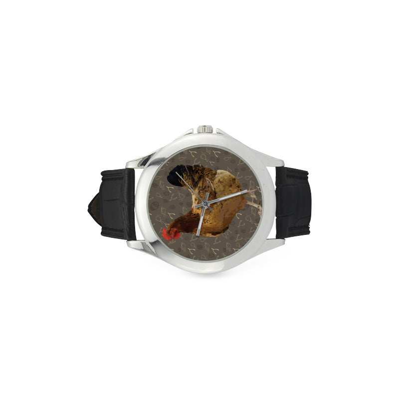 Chicken Footprint Women's Classic Leather Strap Watch - TeeAmazing