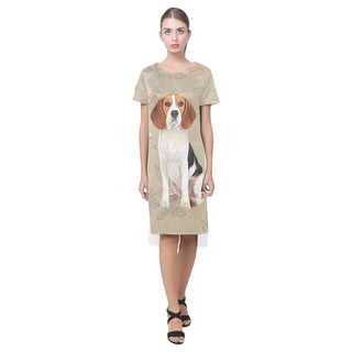 Beagle Lover Short Sleeves Casual Dress - TeeAmazing