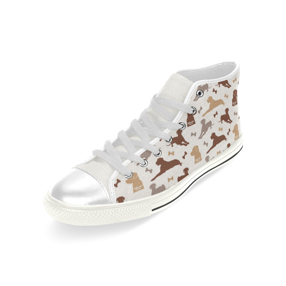 Labrador Retriever Pattern White Men's Classic High Top Canvas Shoes - TeeAmazing
