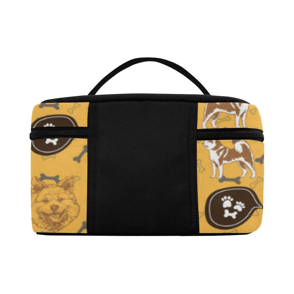 Akita Pattern Cosmetic Bag/Large - TeeAmazing