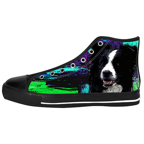 Border Collie Shoes & Sneakers - Custom Border Collie Canvas Shoes - TeeAmazing