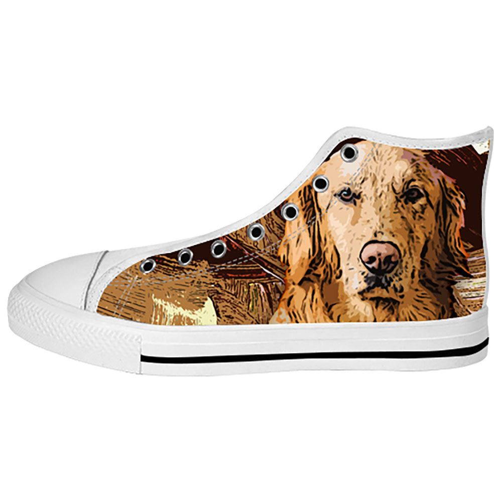 Golden Retriever Shoes & Sneakers - Custom Golden Retriever Canvas Shoes - TeeAmazing