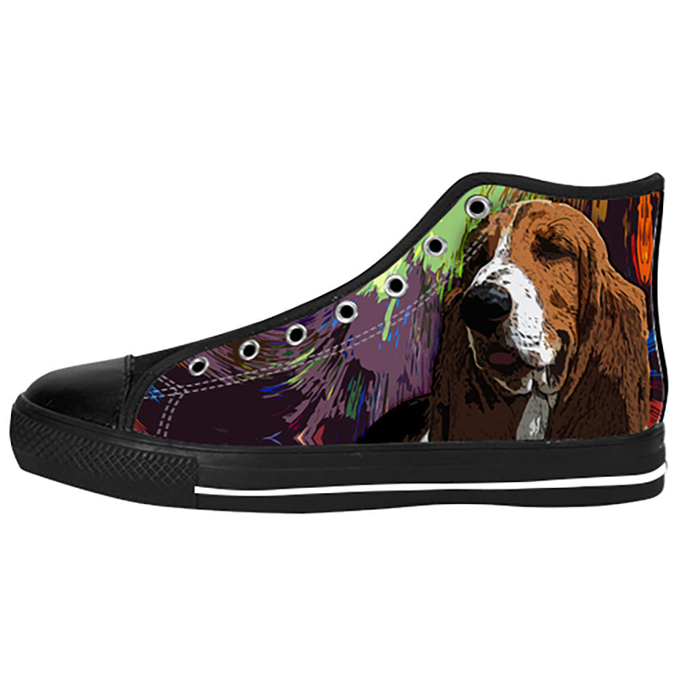 Basset Hound Shoes & Sneakers - Custom Basset Hound Canvas Shoes - TeeAmazing
