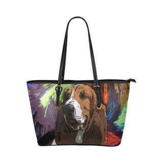 Basset Hound Leather Tote Bags - Basset Hound Bags - TeeAmazing