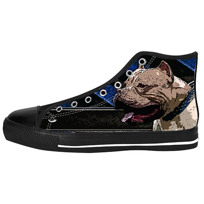Pitbull Shoes & Sneakers - Custom Pitbull Canvas Shoes - TeeAmazing
