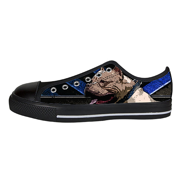 Pitbull Shoes & Sneakers - Custom Pitbull Canvas Shoes - TeeAmazing - 3