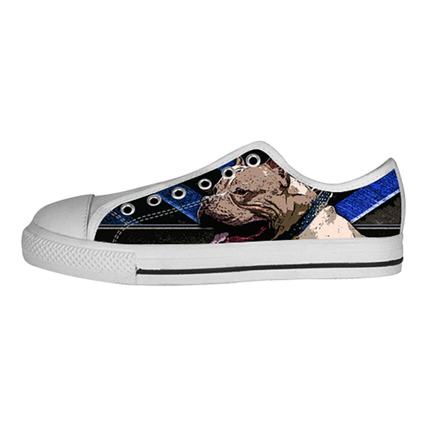 Pitbull Shoes & Sneakers - Custom Pitbull Canvas Shoes - TeeAmazing - 4