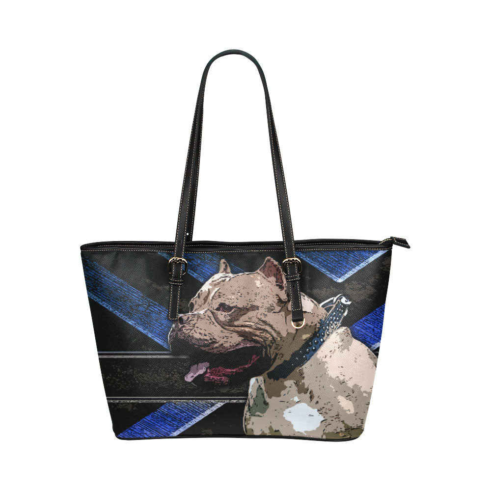 Pitbull Leather Tote Bags - Pitbull Bags - TeeAmazing