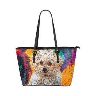 Maltese Leather Tote Bags - Maltese Bags - TeeAmazing