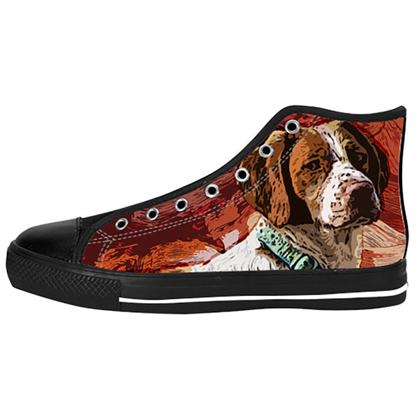 Brittany Spaniel Shoes & Sneakers - Custom Brittany Spaniel Canvas Shoes - TeeAmazing