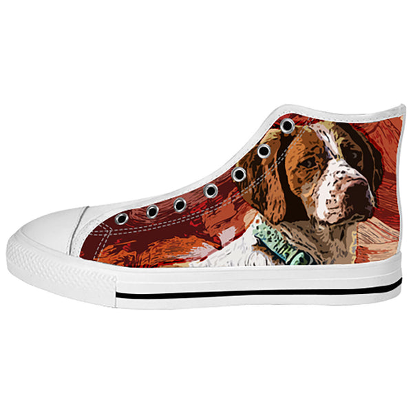 Brittany Spaniel Shoes & Sneakers - Custom Brittany Spaniel Canvas Shoes - TeeAmazing - 2